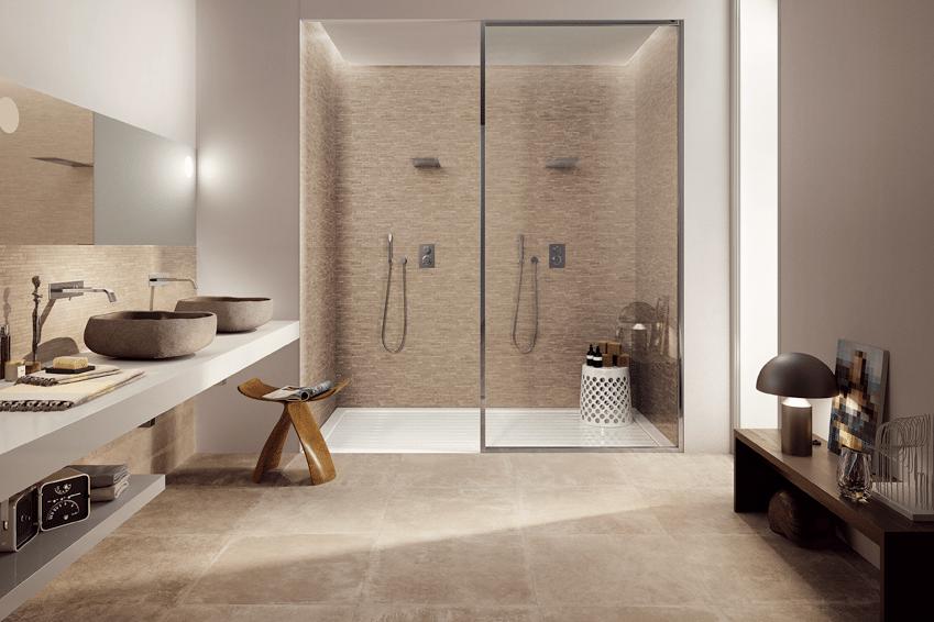 Carrelage douche interieur magasin de carrelages pierres for Interieur salle de bain