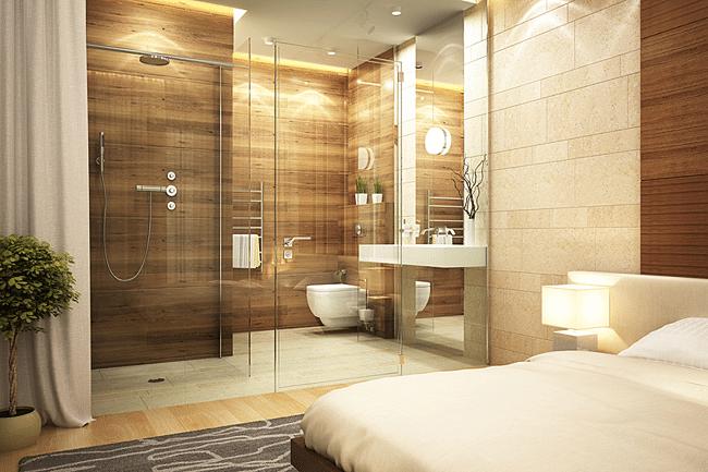 Chambre Avec Salle De Bain Et Toilette : CHAMBRE EN PIERRE NATURELLE PARQUET DESIGN LUXE