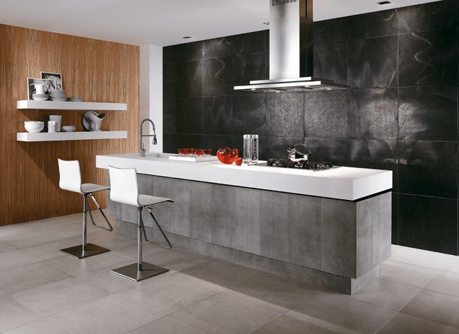 Cuisine en pierre naturelle carrelage cuisine design luxe for Carrelage pierre naturelle salle de bain