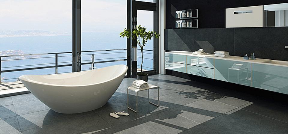 Salle de bains haut de gamme carrelages de salles de bain for Salle de bain optimisee