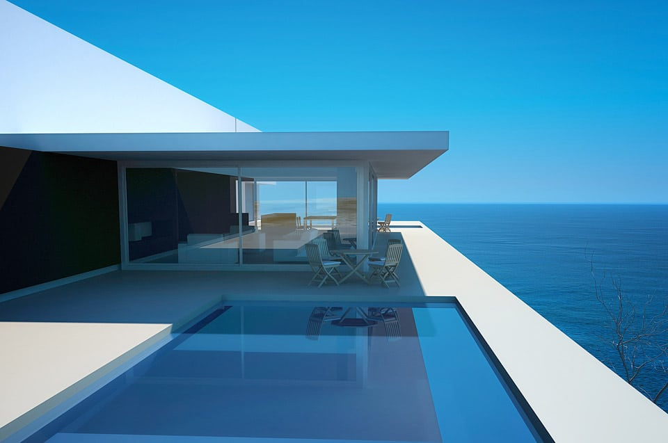 Revetement carrelage de piscine exterieure et interieure sur mesure for Piscine design contemporaine
