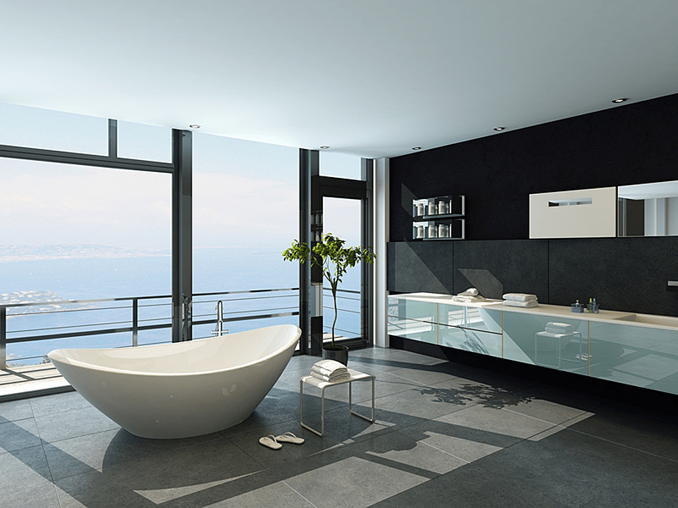 Baignoire salle de bain design luxe pierre naturelle for Salle de bain design 2014