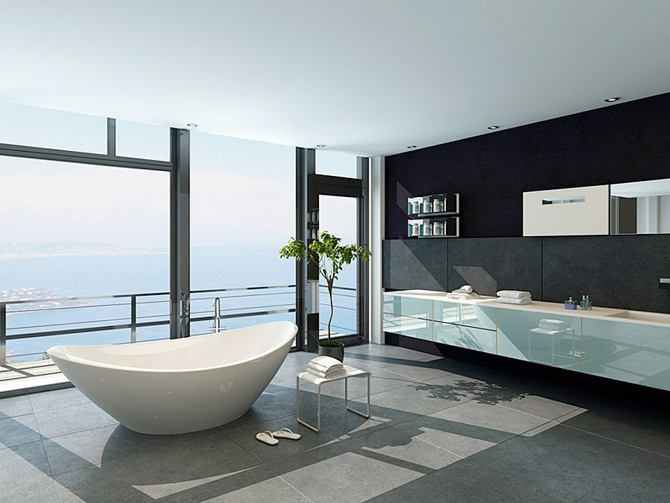 baignoire salle de bain design luxe pierre naturelle. Black Bedroom Furniture Sets. Home Design Ideas