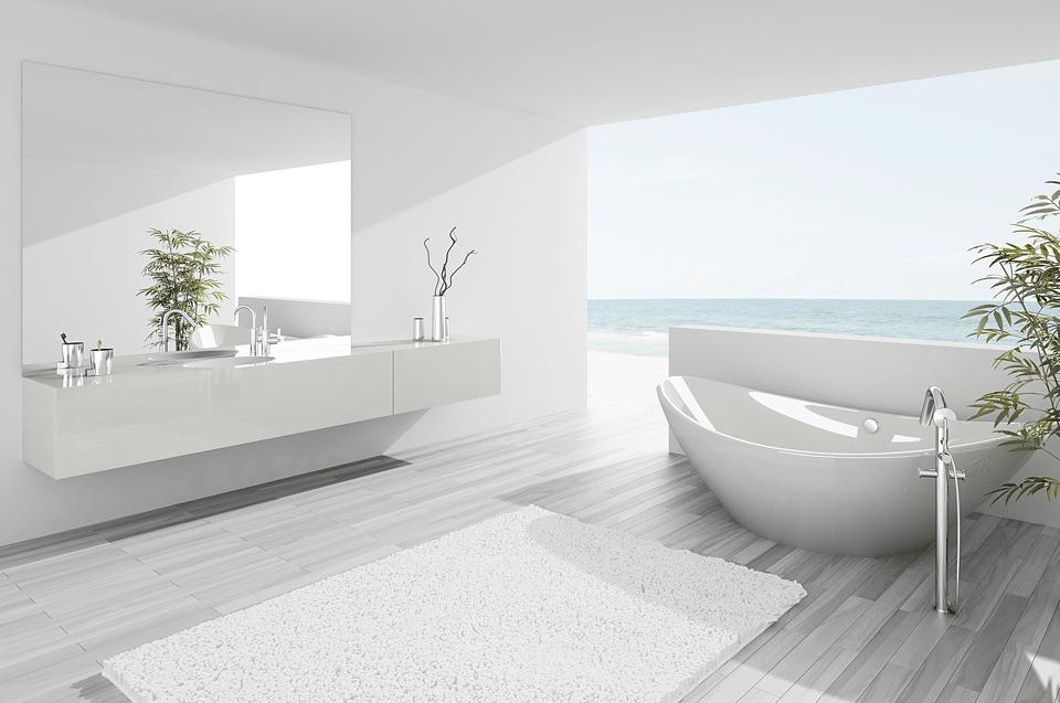 Salle de bains haut de gamme carrelages de salles de for Salle de bain entiere