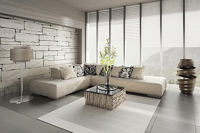 Salon Design Parquet Carrelage Pierre Interieur De Luxe